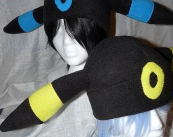 Umbreon Fleece Hat - Pokemon Inspired - Made To Order