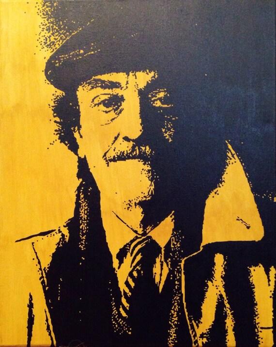 "Kurt Vonnegut Custom Pop Art Painting 16""x20"" Canvas"