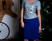 Piccadilly Skirt. Gorgeous Purple Pencil Skirt Soft Luxury Preppy Style. Winter Wool.