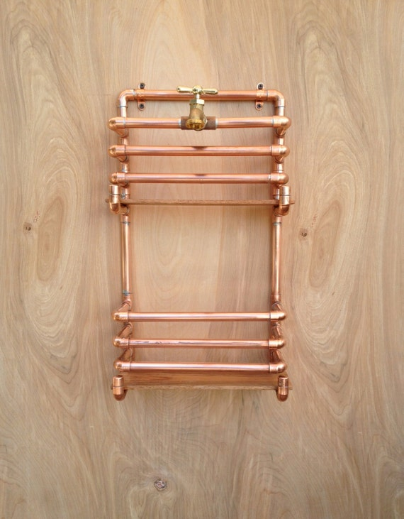 Copper Magazine Rack Wall Storage Industrial By MacAndLexie