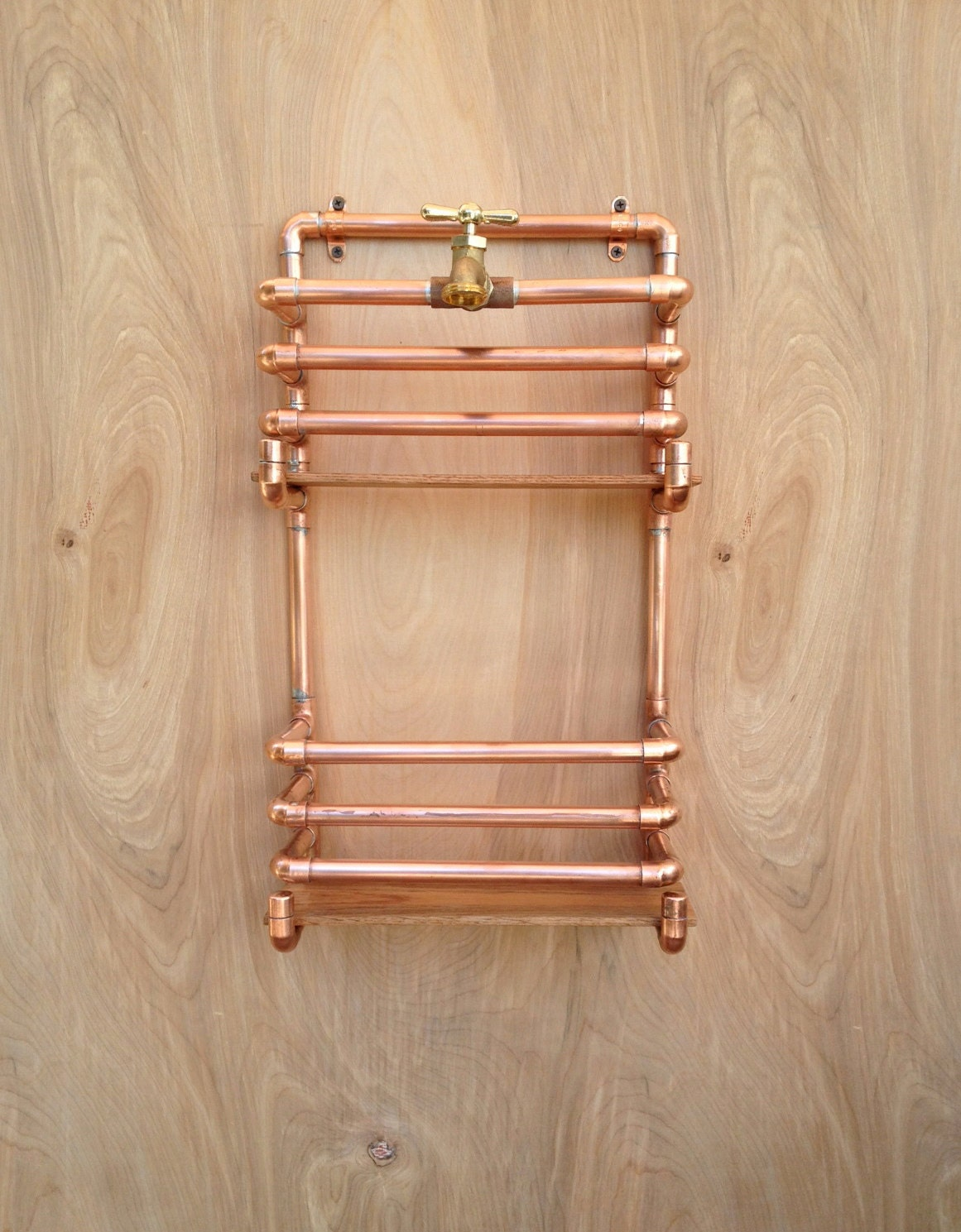 Copper Magazine Rack Wall Storage Rack Industrial By Macandlexie