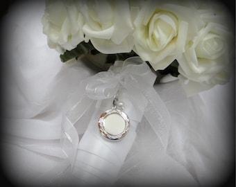 Bridal Locket for Wedding Flowers - Flower Girl Bouquet or Bride Bouquet