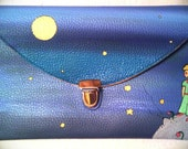 The little prince purse. Hand painted eco leather purse.