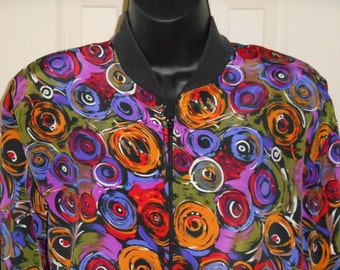 90s, colorful, lightweight jacket, Petite Impressions