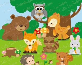 Baby forest animals clipart - photo#17