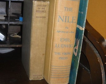 Vintage Collectible Book The Nile: The Life-Story of a River First Edition by Emil Ludwig Translated by Mary H. Lindsay