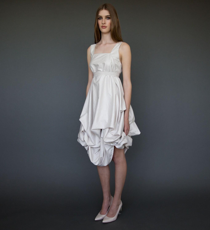Casual Short Wedding Dresses: Lovely Short Wedding Dress In Ivory Casual Wedding Dress