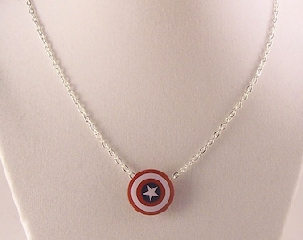 Captain America® Inspired Necklace *SALE* Fan Art Crafted With LEGO® Elements