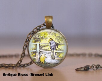 Winnie the Pooh Jewelry Winnie the Pooh Pendant Necklace Jewelry Winnie the Pooh Keyring Book Lover Jewelry Christopher Robin