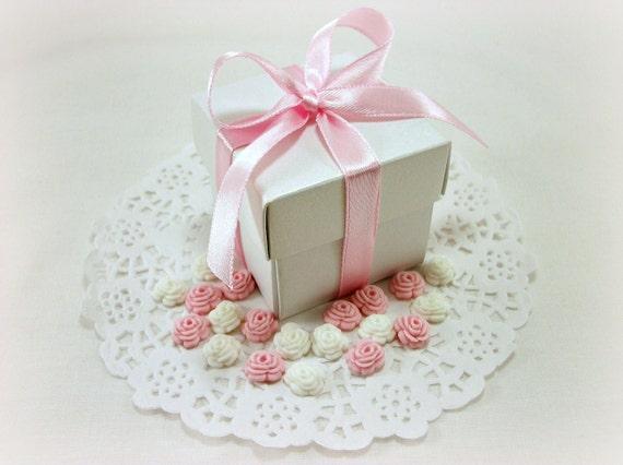 favor boxes 250 edible fondant sugar flowers bridal baby shower