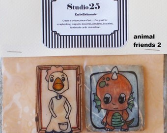 Art Embellishments - Set of 2