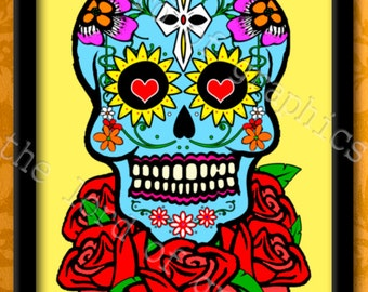 Mexican skull roses 2014 halloween skull Mexican day of the dead katrina