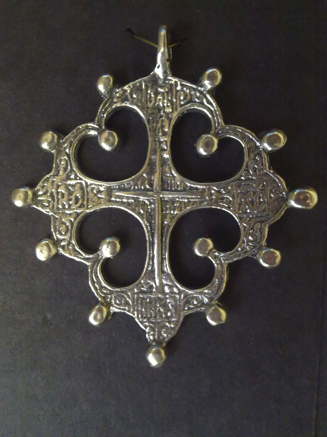 large pendant russian orthodox cross by treasurthis
