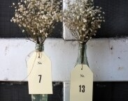 15 table number . rustic manila woodland tags . manila paper table number centerpiece . stamped  table number
