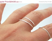 50% off August Sale Sterling Silver Stacking Ring in Shield Shape. Modern Rustic Rings Handmade by Even Howard.