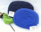 Wool Pencil Roving, Drop Spindle