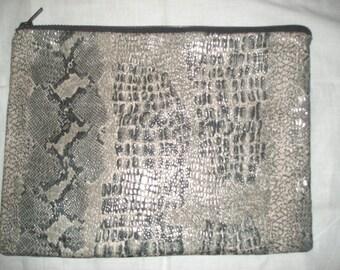 Black & Grey Faux Snakeskin Clutch bag