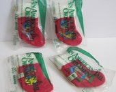 Vintage McDonald's American Tail Stocking Ornament Set of 4 New in Package