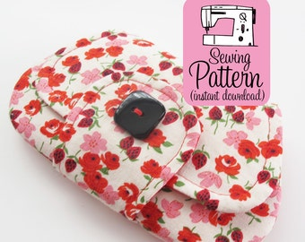 Pocket Clutch PDF Sewing Pattern | Intermediate sewing project to make a small two pocket envelope style pouch.