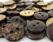Tiny Coconut Buttons - small, two-sided natural coconut, 13mm, very light, great on knitwear