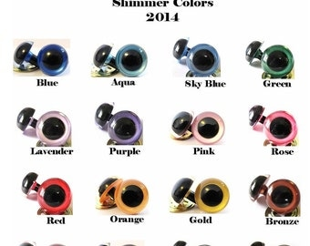 5 Pair of 24mm Suncatcher Eyes, YOUR COLOR CHOICE - Handpainted acrylic craft eyes for dolls, bears, and amigurumi