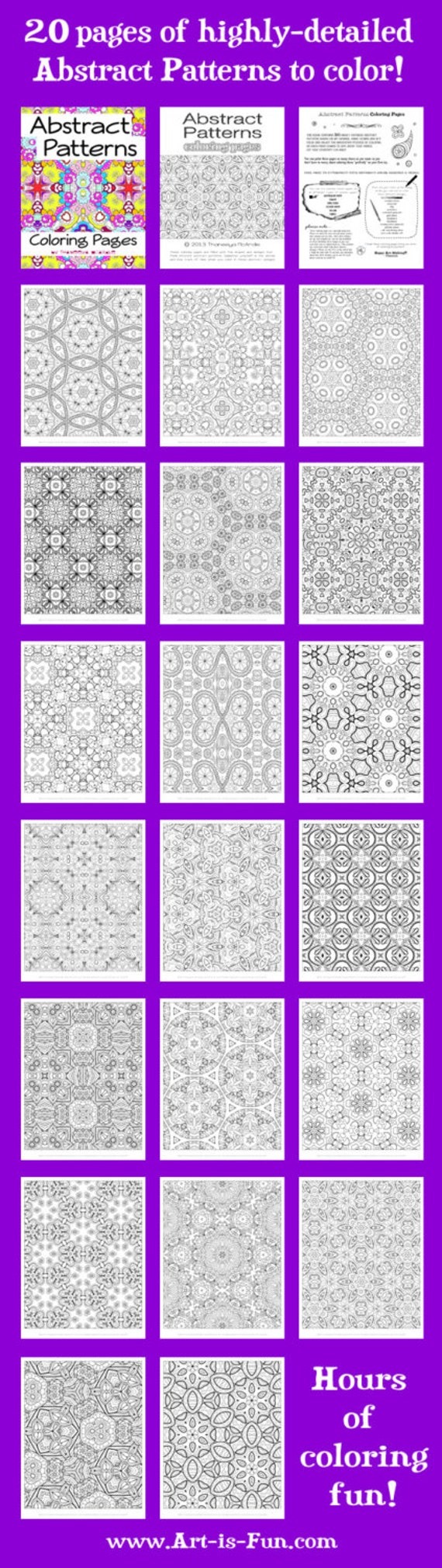 abstract patterns coloring pages pdf 20 detailed printable
