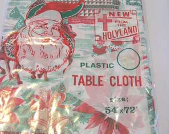 Vintage NIP Plastic Table Cover or Tree Skirt