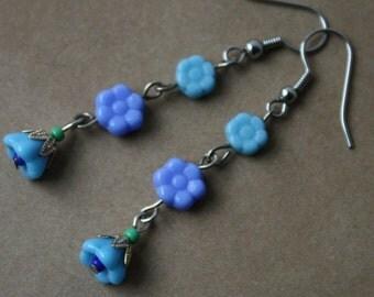 Cornflower Blue Flower Earrings