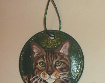 Bengal Cat Custom hand Painted Christmas Ornament Christmas decoration