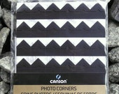 Black photo corners self-adhesive acid-free  252 ct.