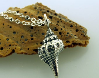 Silver Shell Necklace - Sea Shell Jewelry, Beach Necklace in sterling silver by Kathryn Riechert
