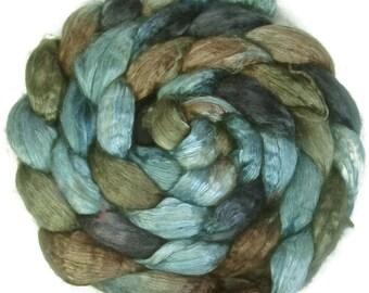 Handpainted Baby Camel/Silk Roving - 4 oz. TRIBE - Spinning Fiber