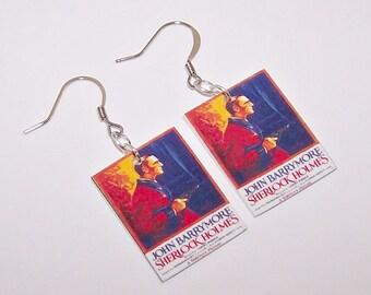 SHERLOCK HOLMES Movie Poster Earrings