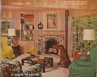 Household Magazine November 1955 - Vintage