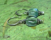 Aqua - Fluorite and Sterling Silver Earrings