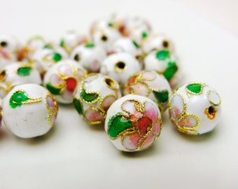 Cloisonne 10mm Round in 10 or 25pcs pack