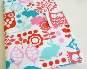 Nook Color, Nook Tablet Cover, Bright Woodland Animals