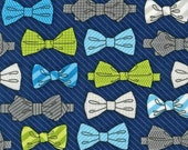 Robert Kaufman Fox and The Houndstooth Bowties Navy Quilting Apparel Fabric BTY