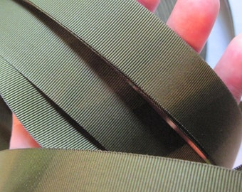olive drab grosgrain ribbon/hat band (6 yards)