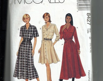 McCall's  Misses'  Dress and Belt Pattern 8427