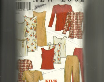 New Look Jacket , Dress, Top, and Pants Pattern 6577