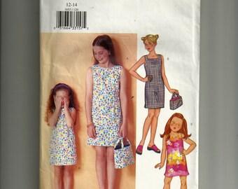 Butterick  Children's /Girls' Dress and Bag Pattern 3053
