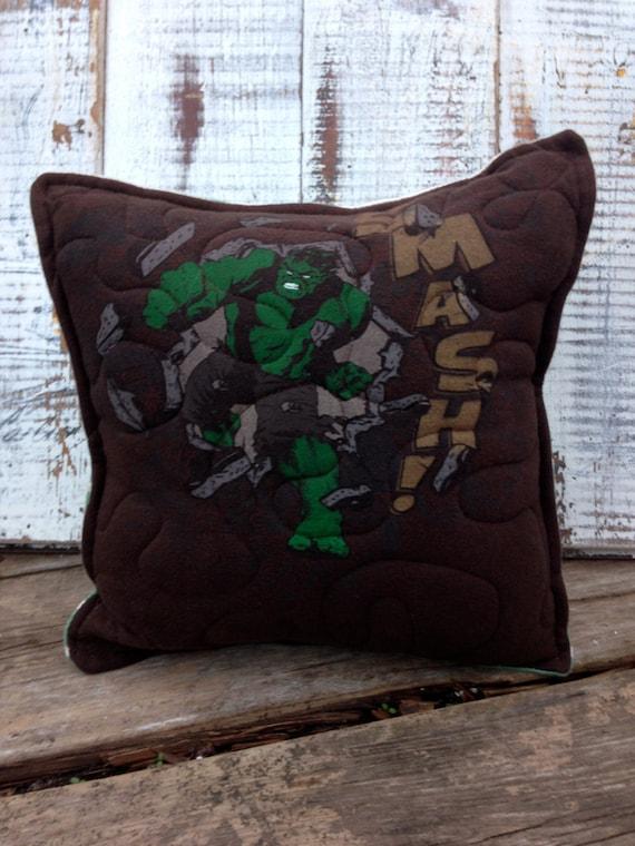 Hulk Decorative Pillow : Hulk Throw Pillow-Comic Book Throw PillowUpcycled Eco