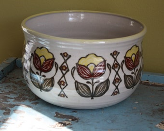 Stoneware Sunflower Bowl.  Large.