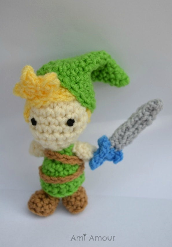 Zelda Amigurumi Doll : Link Legend of Zelda Amigurumi Doll plush by amiamour on Etsy