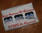 Custom What Happens at Grandma's Mr. Donkey Eeyore Tee shirt