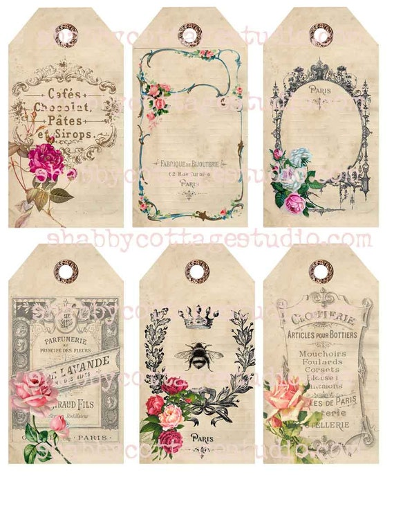I Love Tags - Shabby Cottage Studio