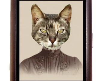 Victorian Cat Lady Cigarette Case Wallet Business Card Case Sweetheartsinner Prim & Proper Kitty