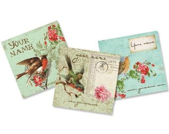 Custom Tags  Custom  Earring Cards  Hair Bow Cards  Display Cards  Jewelry Tags  Jewelry Display  Vintage Bird Tags  VINTAGE BIRDS 1