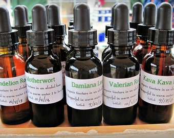 Organic VALERIAN ROOT Tincture 1 oz herbal